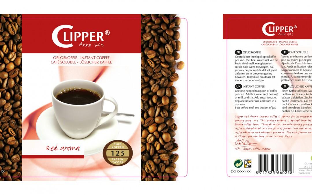 Etiketten Clipper Koffie