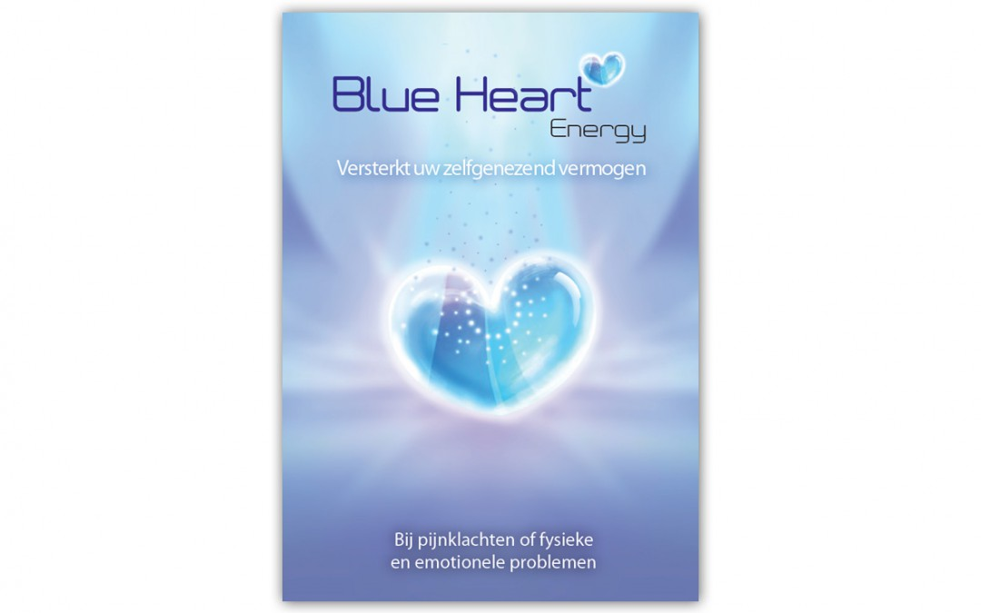 Folder Blue Heart Energy buiten