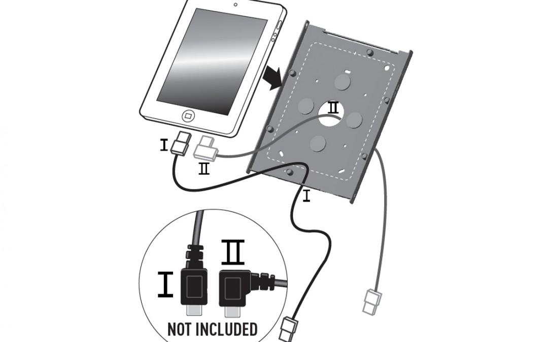 Gebruik ipad holder