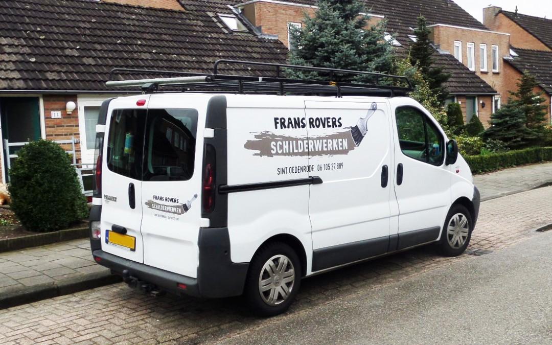 Belettering bedrijfsauto Frans Rovers Schilderwerken