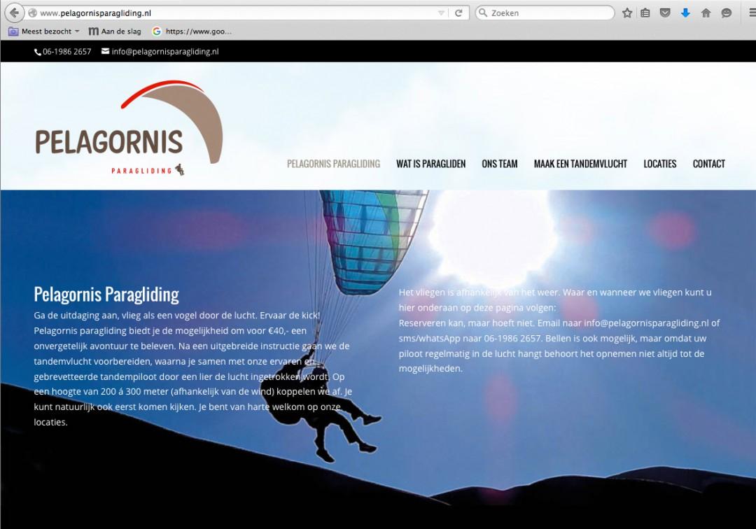 Website Pelagornis Paragliding