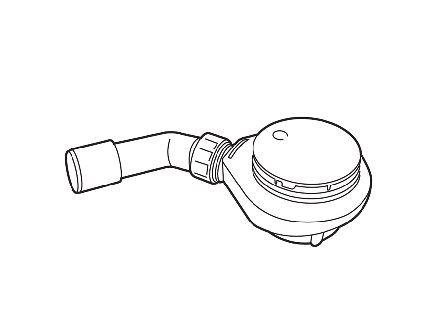 Lijntekening sifon