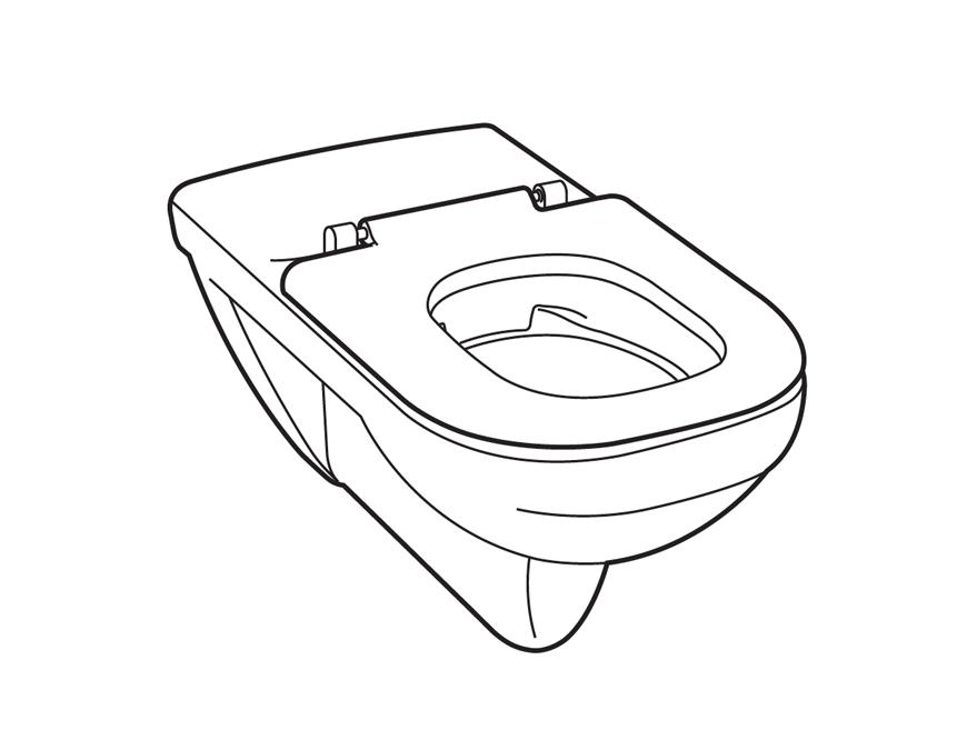 Lijntekening toilet